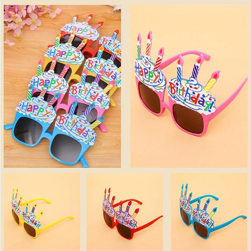 1pcs Happy Birthday Glasses Funny Novelty Eyeglasses Candle Sunglasses Party Glasses Party Supplies Birthday Gift For Kids
