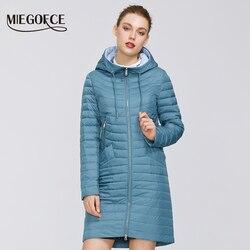MIEGOFCE 2020 Neue Sammlung von Designer Frühling frauen Parka Mantel frauen Winddichte Dünne Baumwolle Jacke Warme Jacke Mit kapuze