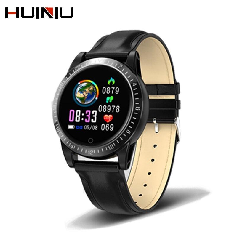 Montre de fréquence cardiaque intelligente idéal pour bracelet traqueur d'activité intelligente android montre intelligente moniteur cardiaque montre horloge de fitness bluetooth