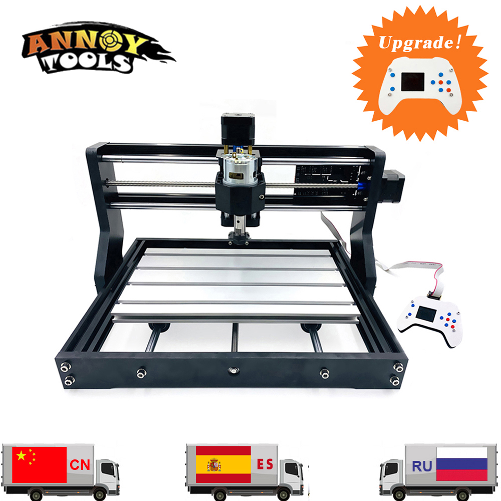 Máquina CNC 3018 Pro GRBL 1,1 DIY cnc, fresadora de baquelita de 3 ejes, grabado láser de enrutador de madera, CNC3018 puede trabajar sin conexión