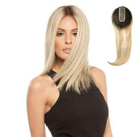 Hstonir Silk Fishnet Topper European Remy Hair Blond Closure Wig Hair Decoration Network Top Piece TP27