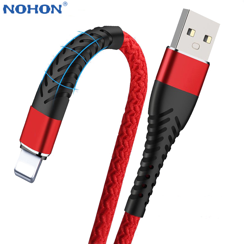 2m 3m Data USB Charger Cable For iPhone 6 S 6S 7 8 Plus 10 X XR XS 11 Pro Max 5 5S SE title=