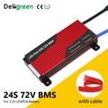 Deligreen 3 2 V bms 24S 80A 100A 120A 150A 200A 250A 72V BMS для LiFePO4 батареи с функцией баланса водонепроницаемый