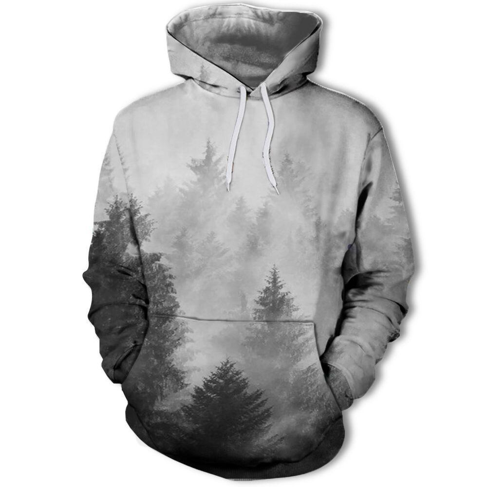 2018 New Fashion Men/Women 3d Sweatshirts Machine The Wolf Print Dreamy Lines Thin Style Autumn Winter Hooded Plus Size S-4xl