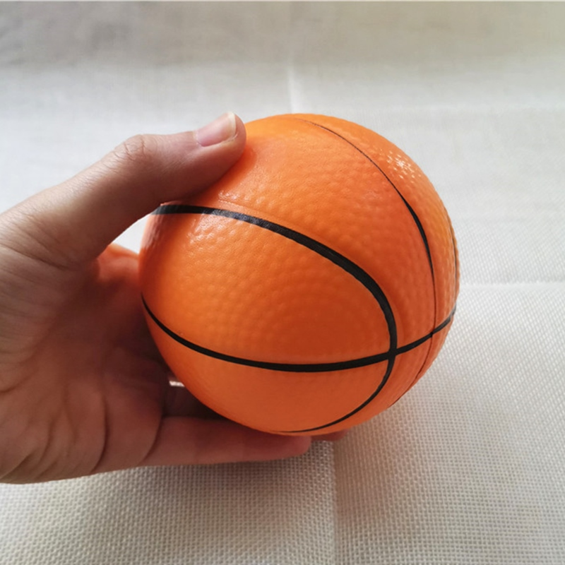 10cm Baby Soft Foam Toy Basketball Anti Stress Squeeze Balls PU Sponge Outdoor Sports Games Toys For Kids Children