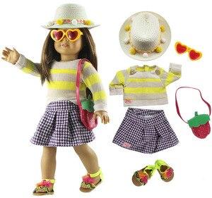 Новая 18-дюймовая Одежда для кукол наряд для 18-дюймовых американских кукол много стилей на выбор #34