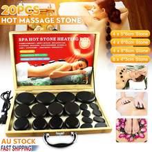 20pcs/set Hot Stone Massage Set Heater Box Relieve Stress Back Pain Health