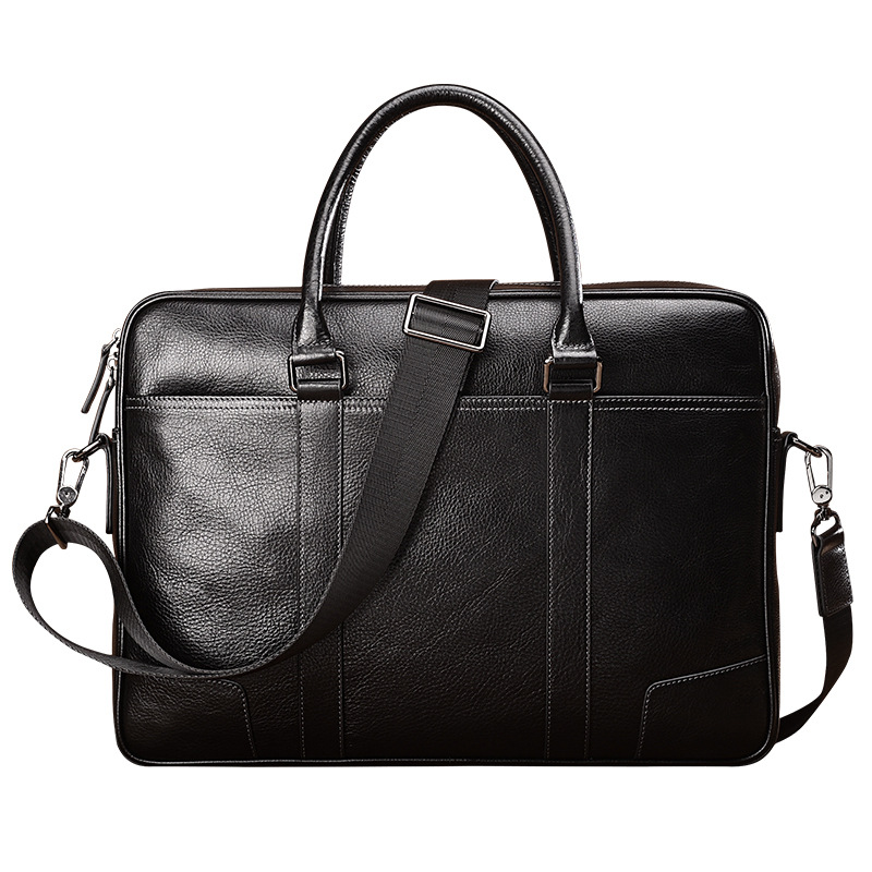 Новая стильная мужская кожаная сумка на плечо, Большая вместительная ручная деловая Мужская сумка из кожи с натуральным лицевым покрытием,