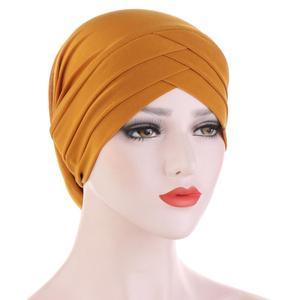 Solid Color Women Cross Cover Inner Hijab Caps Elastic Islamic Underscarf Muslim Head Turban Bonnet