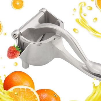 Silver Metal Manual Juicer Fruit Squeezer Juice Squeezer Lemon Orange Juicer Press Household Multifunctional Juicer premium quality lemon lime squeezer eco friendly material manual citrus press juicer mini juice tool