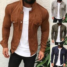 2019 Zipper Men Jackets Autumn Winter Casual Fleece Coats Bomber Jacket