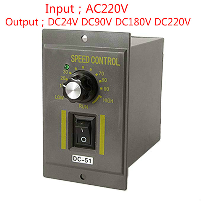 DC-51 AC 220V To DC 90V 24V 180V Electrical Speed Control Controller For 60W 200W Motor Discount