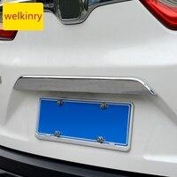 Welkinry 車の自動車カバーホンダ CR-V crv 2017 2018 2019 2020 abs クロームリアテールボックスゲートバックドアトランクブーツトリム