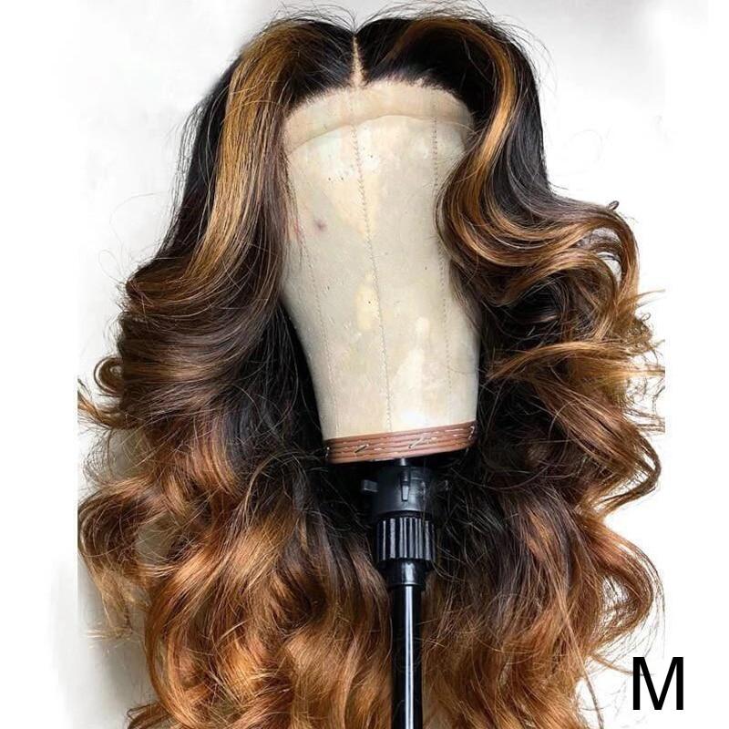 JYZ Ombre Blonde 13x4 dentelle avant perruques de cheveux humains moyen rapport 130% dentelle avant perruques brésilienne vague de corps dentelle avant perruque Remy cheveux