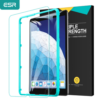 ESR Tempered Glass for 2020 2018 iPad Pro 12.9/11/10.5/9.7 Inch 2019 iPad Mini 5/4 Air3/2 Air iPad 7th/6th Full Screen Protector