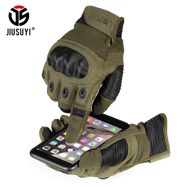 Touch Screen Army Military Tactical Gloves Paintball Airsoft Shooting Combat Anti-Skid Bicycle Hard Knuckle Full Finger Gloves 2