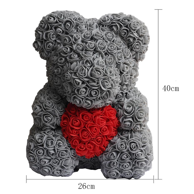 25cm 40cm Soap Foam Rose Bear Teddy Bear Pink Artificial Flower New Year Gifts For Women Valentine's Gift Uncategorized Decoration Stuffed & Plush Toys Toys