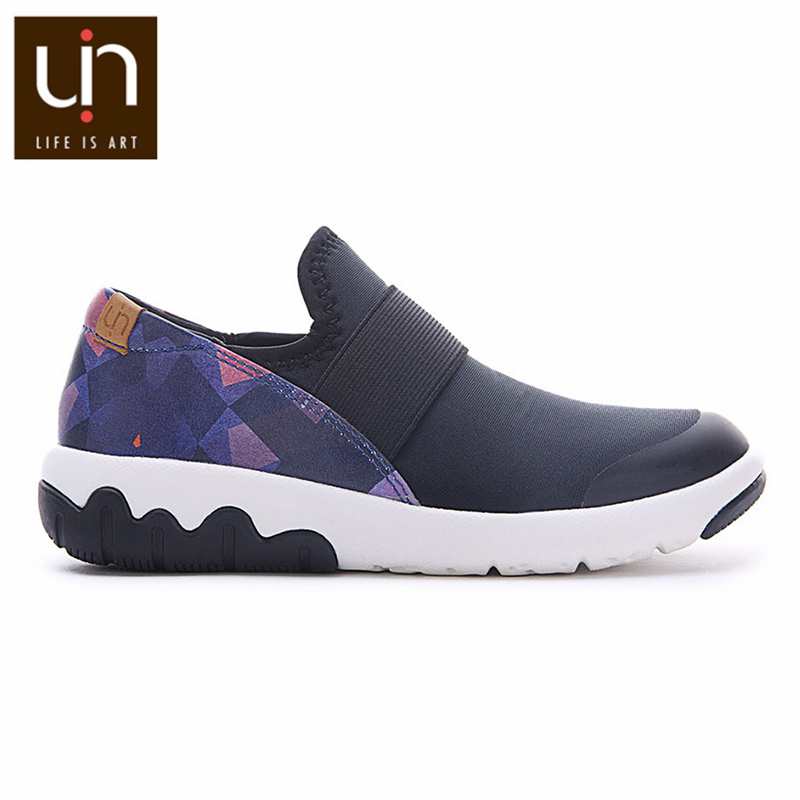 UIN Zaans Series Brand Black Sneakers for Women/Men Wide Soft Walking Shoes Casual Comfort Loafer Lightweight Sport Shoes Couple