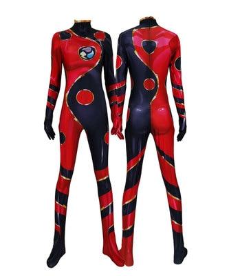 Dragon Ladybug Cosplay Costume 3D Print Cheap Dragonbug Superhero Halloween Little Beetle Zentai Suit Girls Adults/Kids