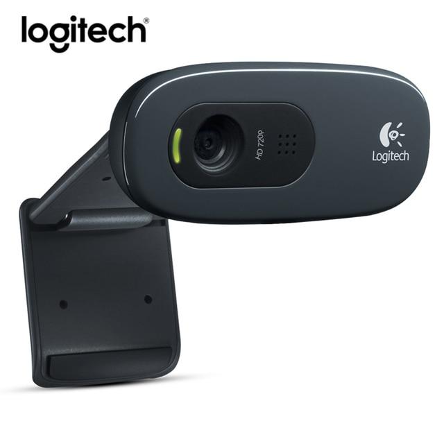 Original Logitech C270 HD Vid 720P Webcam Built-in Micphone USB2.0 Mini Computer Camera for PC Laptop Web Cam 1