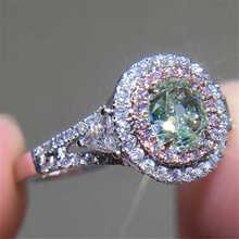 White Sapphire Ring  Anniversary Day Chic Women Tourmaline Pink Wedding Engagement Ring caimao 1 98ct natural emerald cut pink tourmaline si g h round diamond engagement ring