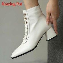 Krazing pot/Новинка 2020 года; Зимняя обувь из натуральной кожи