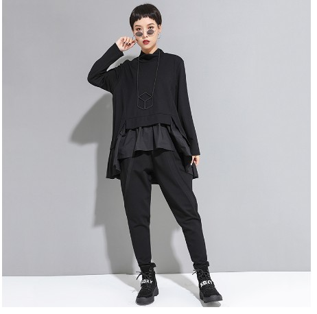 2019 European and American women 39 s autumn new casual pants dark thin feet elastic harem pants in Pants amp Capris from Women 39 s Clothing