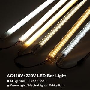 Image 2 - LED Bar Light 220V 110V High Brightness 8W 50cm 72LEDs 2835 LED Rigid Strip Energy Saving LED Fluorescent Tubes 5pcs/lot.