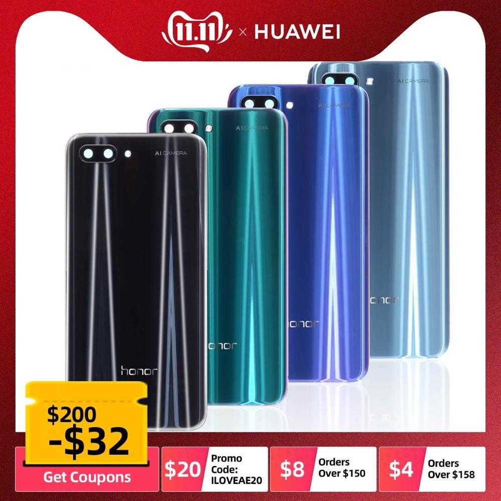 100% Original Glas Gehäuse Für Huawei honor 10 Batterie Abdeckung mit Kamera Objektiv Für honor 10 Zurück Abdeckung Ersatz Teile