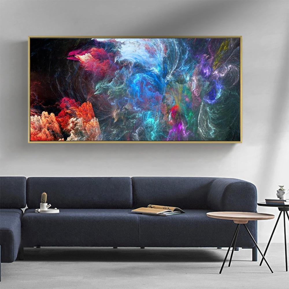 DDHH картина для дома настенная живопись холст печать абстрактный пейзаж, живопись облако для гостиной домашний Декор без рамки|Рисование и каллиграфия|   | АлиЭкспресс