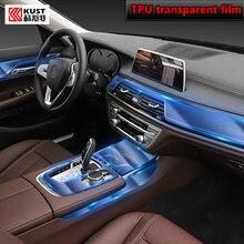Para bmw g11 g12 series7 2016-2020carro interior console central transparente tpu película protetora anti-risco reparação filme accessorie