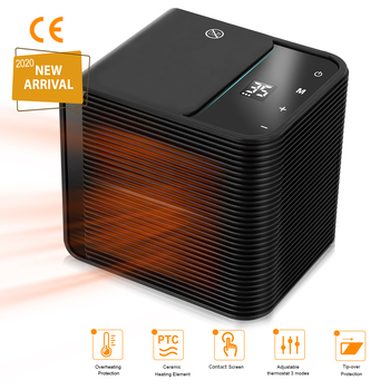 Przenośny ogrzewacz pomieszczeń elektryczne ceramiczne grzejniki 3 tryby Timer Off ekran kontaktowy osobiste grzejniki do użytku domowego w domu tanie i dobre opinie CN (pochodzenie) Electric Ceramic Heaters