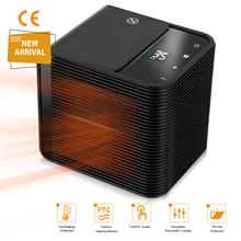 Przenośny ogrzewacz pomieszczeń elektryczne ceramiczne grzejniki 3 tryby Timer Off ekran kontaktowy osobiste grzejniki do użytku domowego w domu tanie tanio CN (pochodzenie) Electric Ceramic Heaters