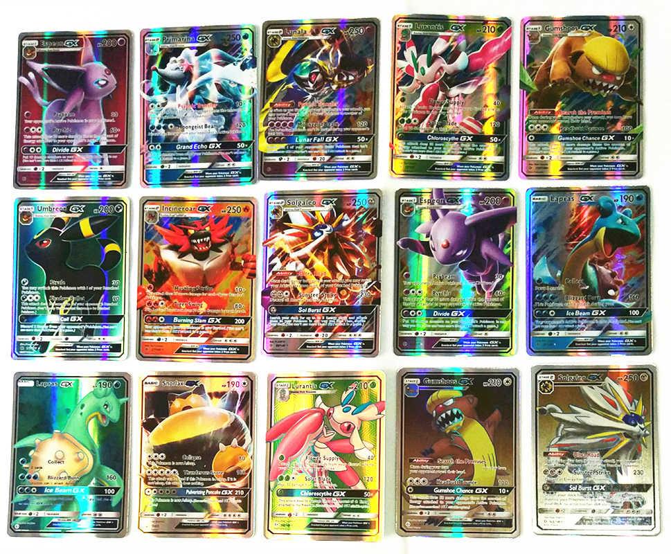 200 sztuk GX MEGA Shining TAKARA TOMY karty gry battle Carte 100 sztuk karty kolekcjonerskie gra zabawka dla dzieci