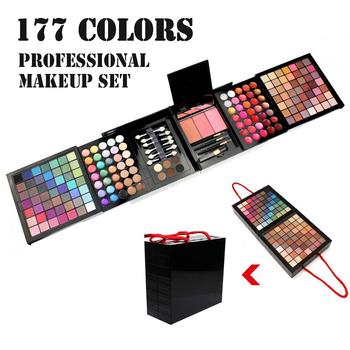 Cienie do makijażu profesjonalne palety cieni do powiek 177 palety kolorów makijaż matowy paleta cieni do powiek brokat paleta cieni tanie i dobre opinie VERONNI CN (pochodzenie) 880g Zestaw do makijażu Fine Mineral Powder 1kit YY012 177 Color Palette of Shadows Make Up Kit