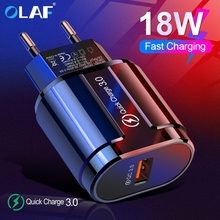 Olaf 18W Quick Charge 3 0 USB Charger Fast Charging QC3 0 For Samsung S10 A50 Xiaomi Mi9 iPhone X 7 Huawei Wall USB Plug Adapter cheap QC 3 0 USB Charger Qualcomm Quick Charge 3 0 100-240V 0 5A ROHS Travel Usb charger quick charge 3 0 qc 3 0 qc3 0 mobile charger
