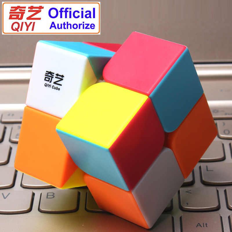 QIYI Warrant 2x2 Geschwindigkeit Magic Cube Stickerless 2x2x2 Cubo Magico Puzzle Pädagogisches Spielzeug Für kinder Kinder Geschenk