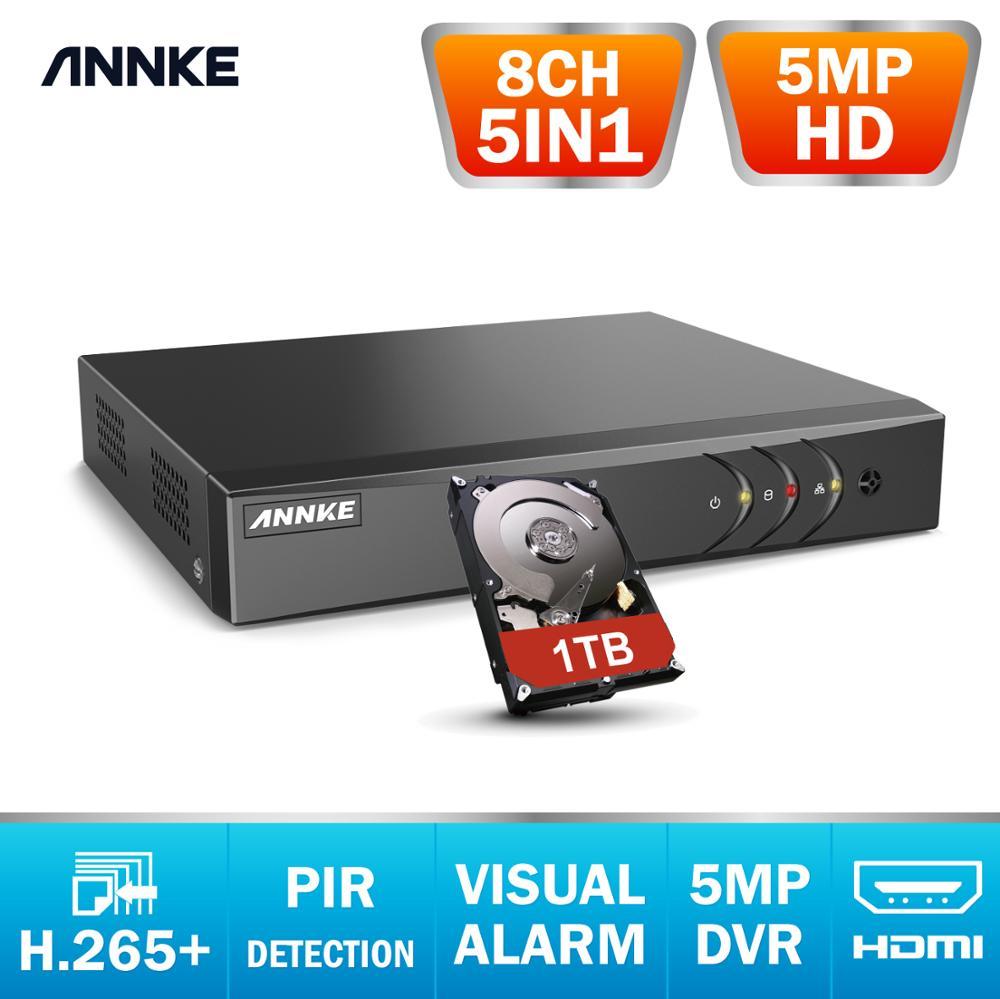 ANNKE 5MP HD 8CH CCTV Surveillance DVR H.265+ 5IN1 Digital Video Recorder PIR Motion Detection For 2MP 3MP 5MP Analog IP Camera
