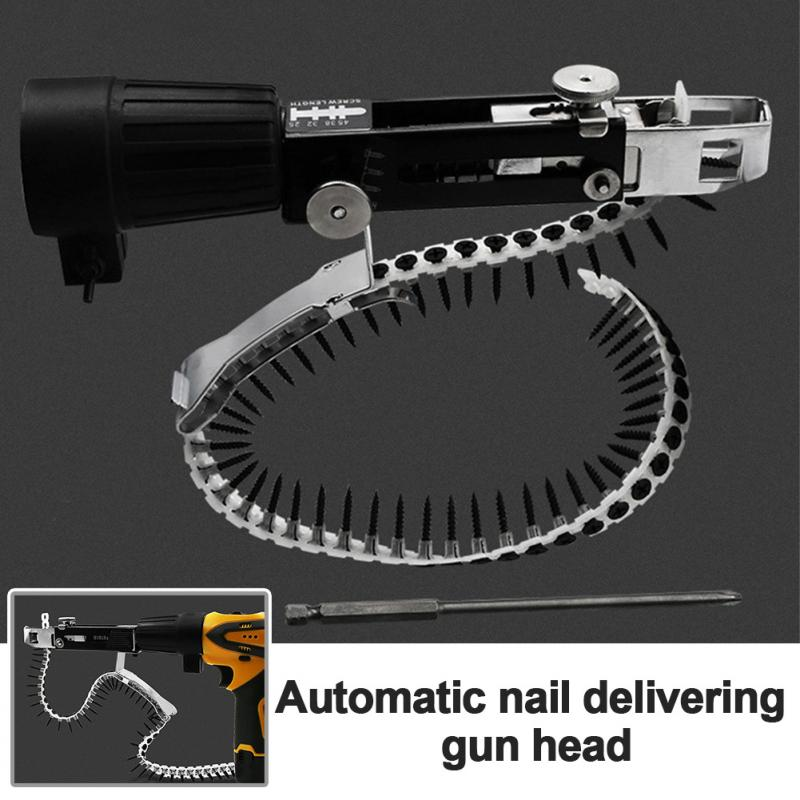 Automatic Electric Woodworking Tool With Screws Chain Nail Adapter Power Drill Attachment Stainless Steel Household Professional