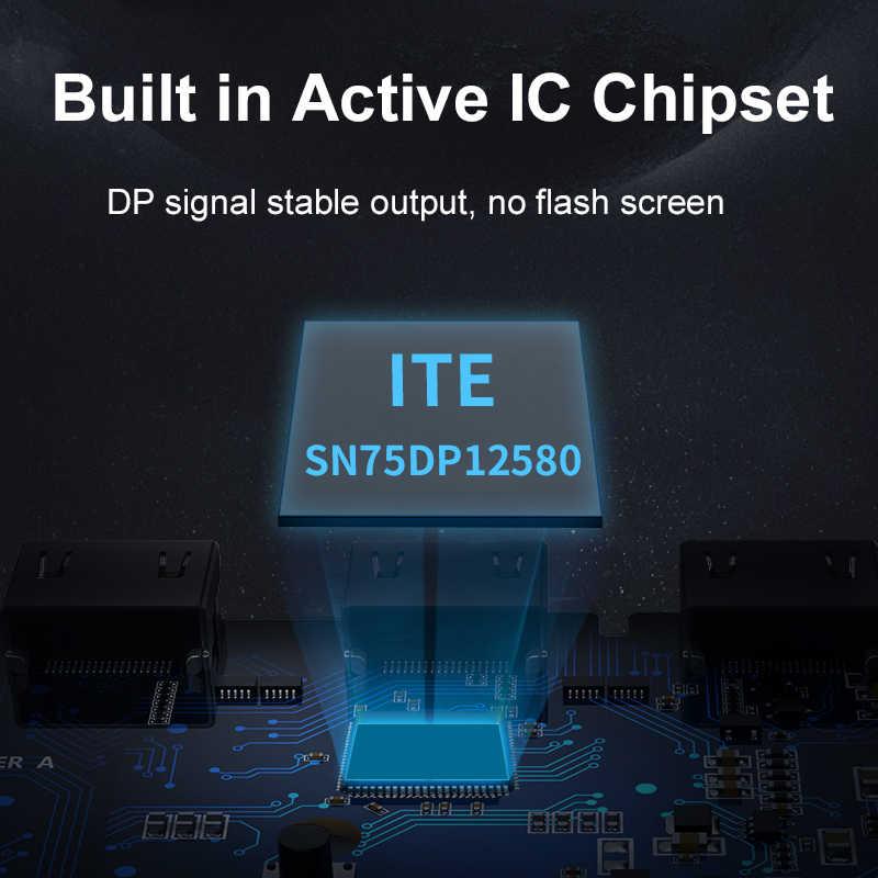 Cabletime usb c displayportのアダプタ 4 18k 60 60hzのusb 3.1 タイプc dpコンバータノートpc用macbook airは、デルdpアダプタC331
