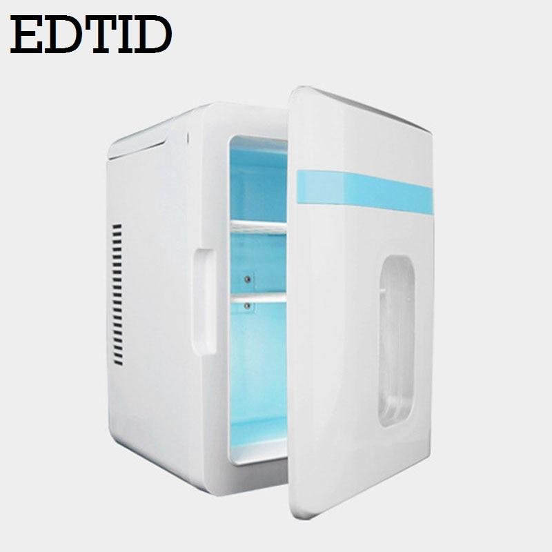 12L MINI Car Fridge Portable Auto household Refrigerator Travel Food electric Warmer Freezer Cooler Box home office 12V 220V