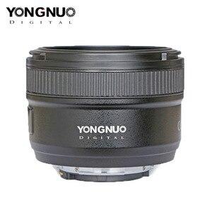 Image 3 - YONGNUO YN50mm F1.8 عدسات لنيكون D800 D300 D700 D3200 D3300 D5100 DSLR كاميرا عدسات لكاميرات كانون EOS 60D 70D 5D2 5D3 600D الأصلي