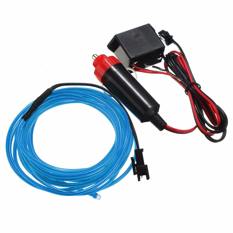 300cm EL Neon Light EL Wire Rope Tube Neon Cold Light Glow Party Car Decoration With 12V Inverter Cigarette Lighter