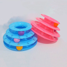 Cat Toy Game Mouse Kitten Interactive Cat Toy Funny Cat Toy Ball Cat Tower Cat Supplies Cat Turntable Toy Three Layers цена 2017