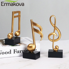 ERMAKOVA Musical Sculpture Statue Music Note Figurine for Home Piano Gifts Souvenirs Home Decoration Accessories Birthday Gifts