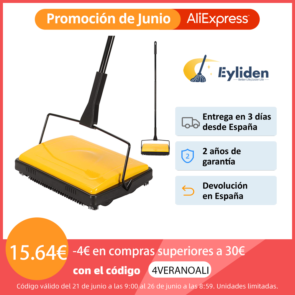 Eyliden Carpet Floor Sweeper Cleaner for Home Office Carpets Rugs Undercoat Carpets Dust Scraps Paper Cleaning with Brush