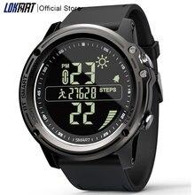 LOKMAT Bluetooth SmartWatch Sport Schrittzähler 5ATM Wasserdicht Echt zeit Wetter Digital Uhr Smart Uhr Männer Für IOS & Android