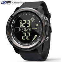 LOKMAT Bluetooth SmartWatch Sports Pedometer 5ATM Waterproof Real time Weather Digital Clock Smart Watch Men For IOS & Android|Smart Watches| |  -