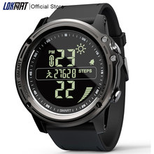 LOKMAT Bluetooth SmartWatch Sports Pedometer 5ATM Waterproof Real time Weather Digital Clock Smart Watch Men For IOS & Android