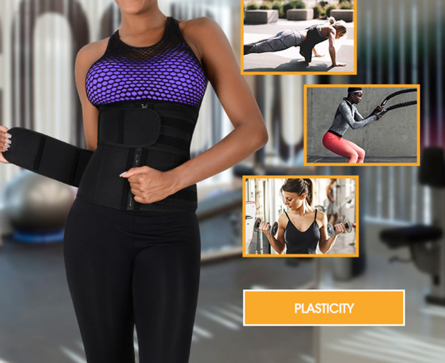 Waist Trainer Cincher Trimmer Sweat Belt Fitness Shaper Men Women Shapewear 1